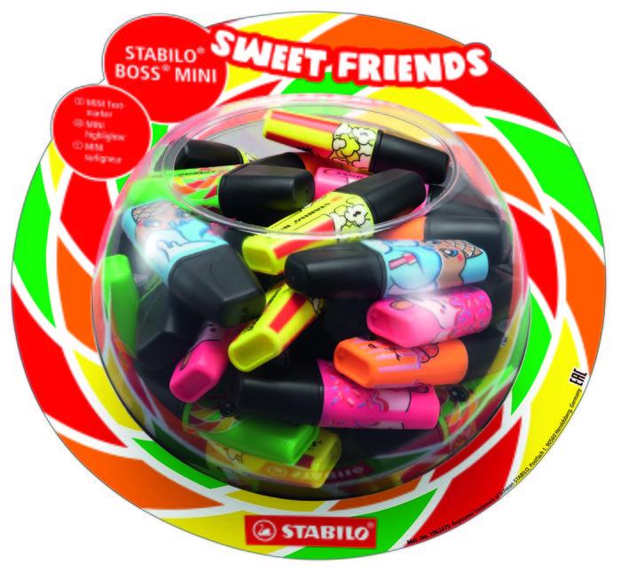Stabilo boss mini sweet friends, expositor de 50 uds