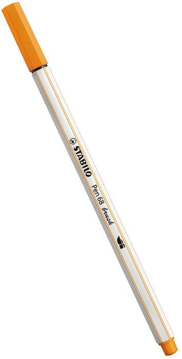 Rotulador stabilo pen 68 brush naranja