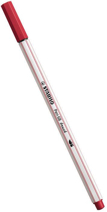 Rotulador stabilo pen 68 brush rojo oscuro