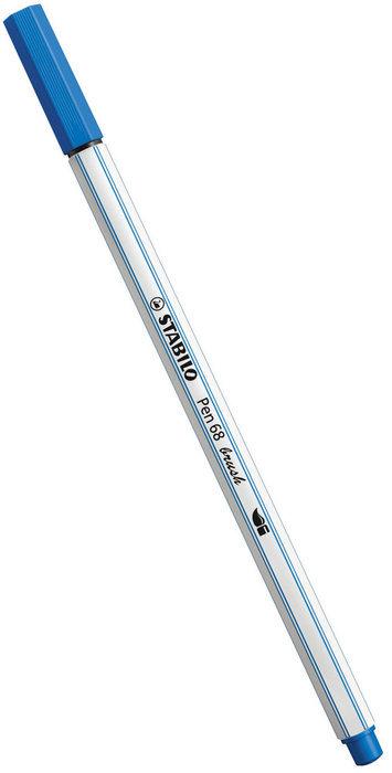 Rotulador stabilo pen 68 brush azul oscuro