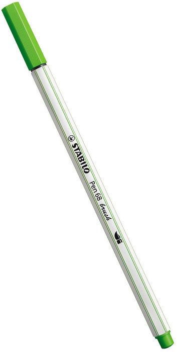 Rotulador stabilo pen 68 brush verde hoja