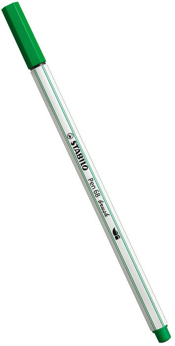 Rotulador stabilo pen 68 brush verde