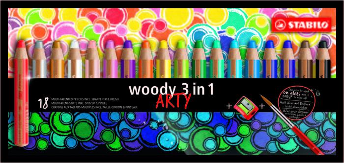 Stabilo woody estuche de carton arty