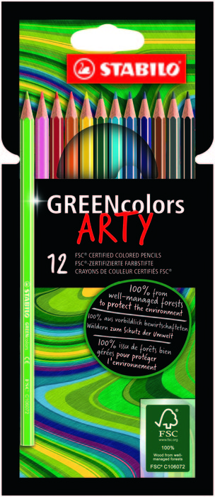 Stabilo greencolors 12 wlt arty