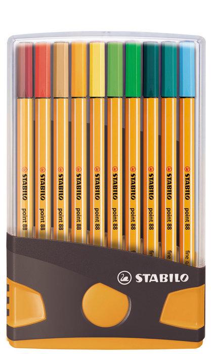 Rotulador stabilo point 88 colorparade antra/naranja 20 uds