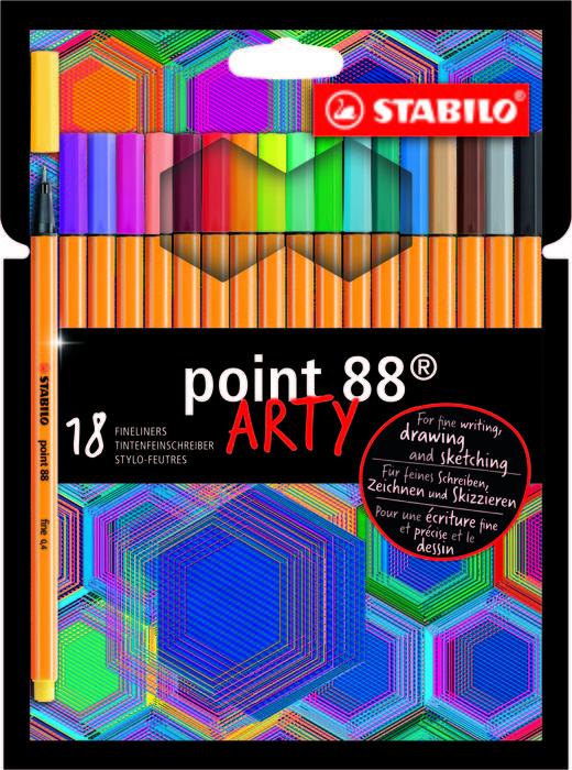 Stabilo point 88 18pcs wallet arty