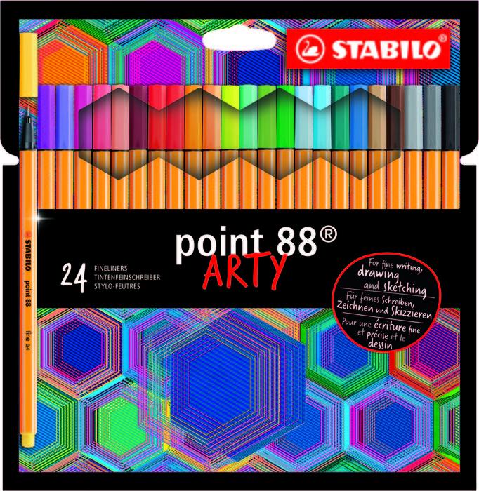 Stabilo point 88 24pcs wallet arty