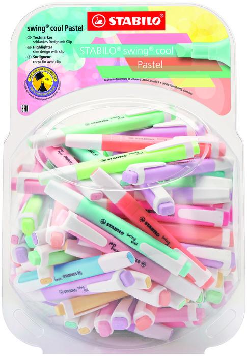Bombonera 100 rotuladores stabilo  swing cool pastel