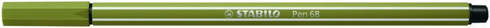 Rotulador stabilo pen 68/37 verde barro