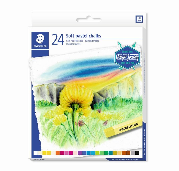 Tizas suaves staedtler tonos pastel 2430 24 uds