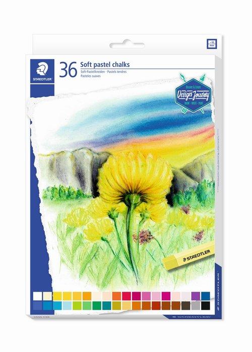 Tizas suaves staedtler tonos pastel 2430 36 uds