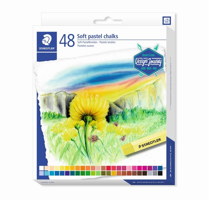 Tizas suaves staedtler tonos pastel 2430 48 uds