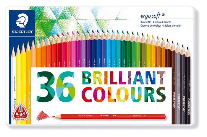 Lapices de color ergosoft 157 36 colores surtidos cajametal