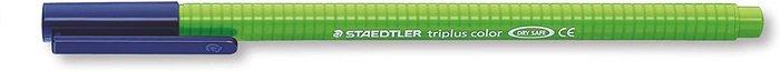 Rotulador punta de fibra triplus color 323 verde amarillo