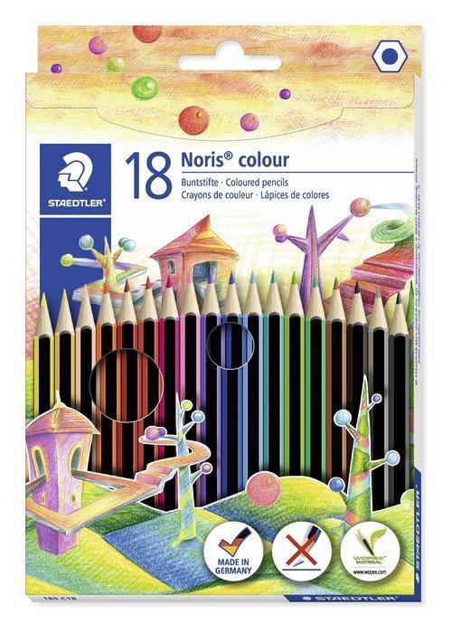 Lapiz colores noris colors c/18 surtidos hexagonal