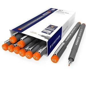 Rotuladores pigment liner 308 0.5 mm naranja