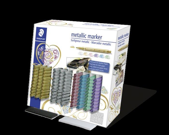 Rotulador metalico staedtler marker expositor 100uds