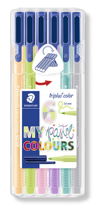 Rotuladores triplus color 323 6 colores pastel