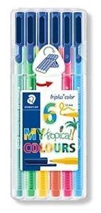 Rotuladores triplus color 323 6 colores tropical