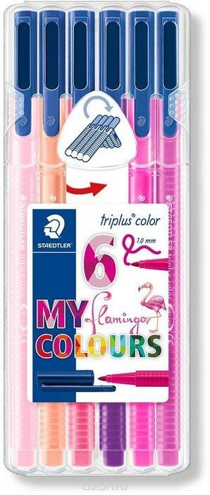 Rotuladores triplus color 323 6 colores flamingo