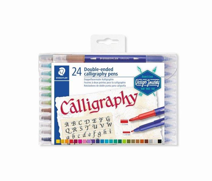 Rotulador doble punta para caligrafia 3005 24 uds