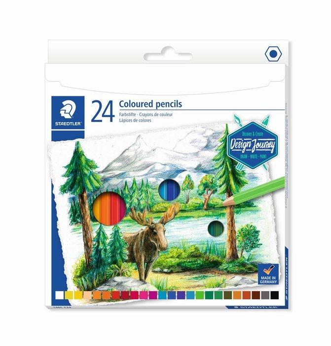 Lapices de colores staedtler estuche carton 146c 24 uds