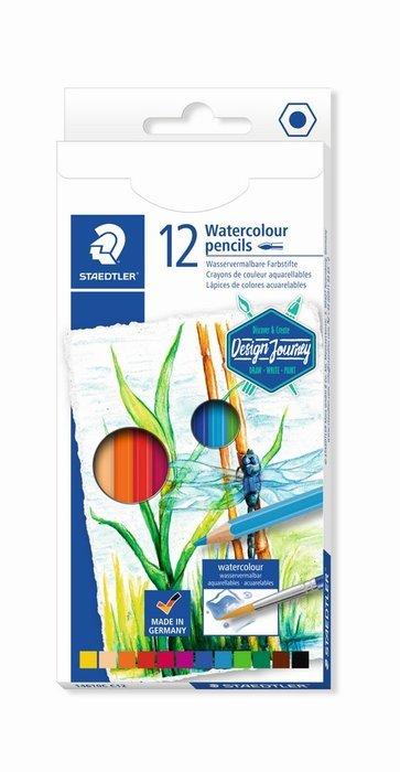 Lapices de colores acuarelables estuche carton 14610c 12 ud