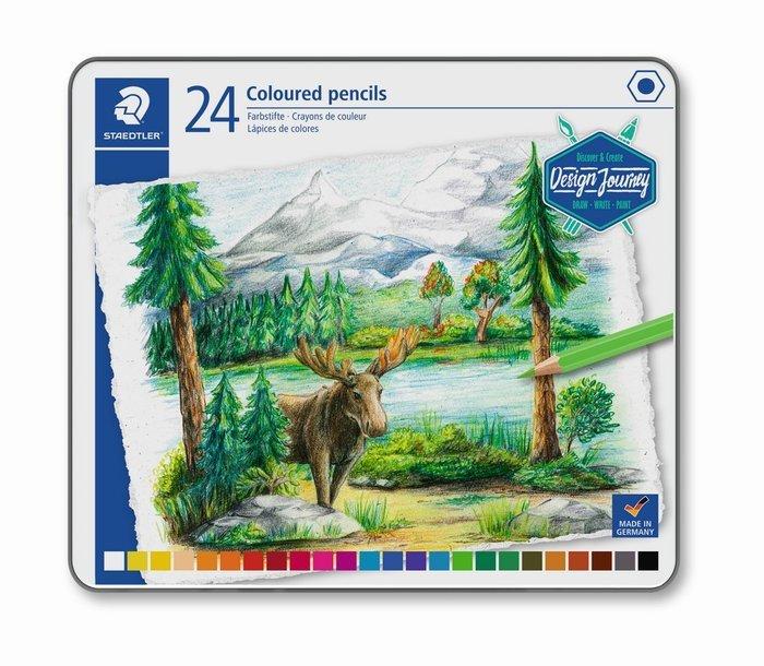 Lapices de colores staedtler estuche metal 146c 24 uds