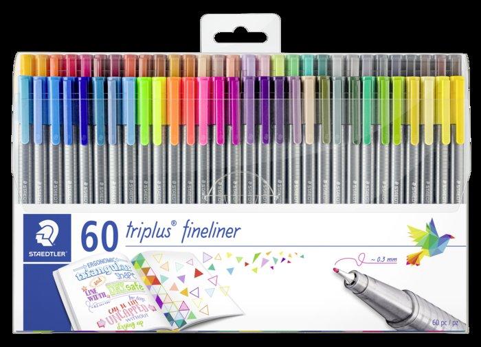 Rotulador staedtler triplus fineliner 334 estuche 60 colores