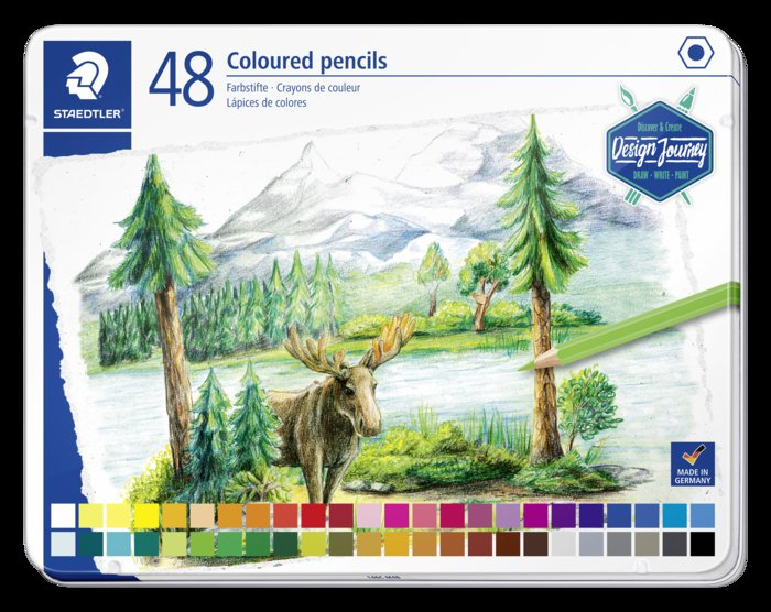 Lapiz staedtler 146 design journey 48 colores surtidos caja