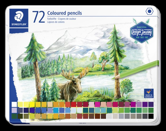 Lapiz staedtler 146 design journey 72 colores surtidos caja