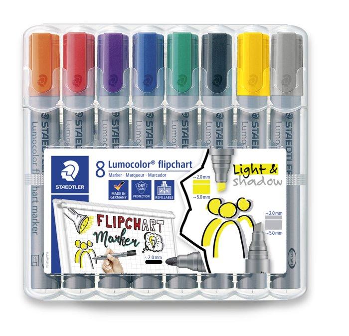 Rotulador staedtler lumocolor flipchart marker 356 estuche 8