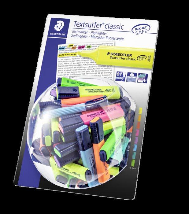 Bombonera 100 uds rotuladores textsurfer classic 364 neon