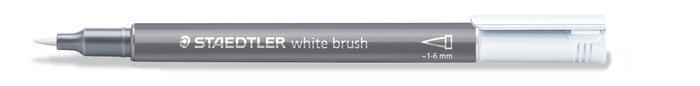 Marcador staedtler metallic brush 8321 blanco
