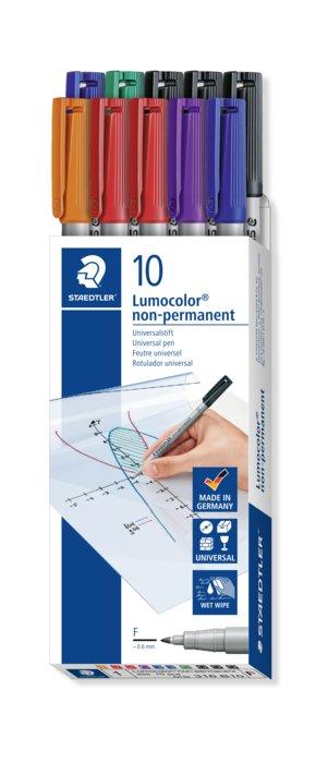Rotulador staedtler 316 lumocolor no permanente 10 uds color