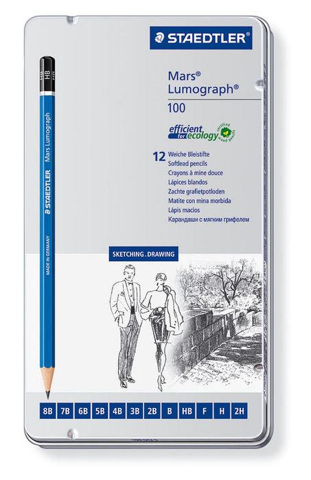Lapiz staedtler mars lumograph 12 graduaciones blandas caja