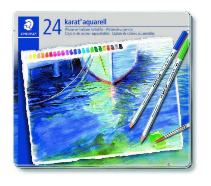 Lapices color acuarelables karat aquarell 125 estuche 24 ud