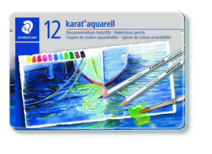 Lapices color acuarelables karat aquarell 125 estuche 12 ud