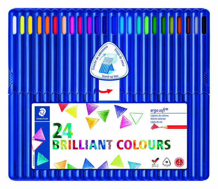 Lapiz triangular ergosoft 157 sb24 24 colores surtidos