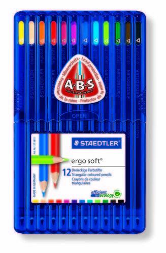 Lapiz triangular 157sb12 c/12 surtidos ergo