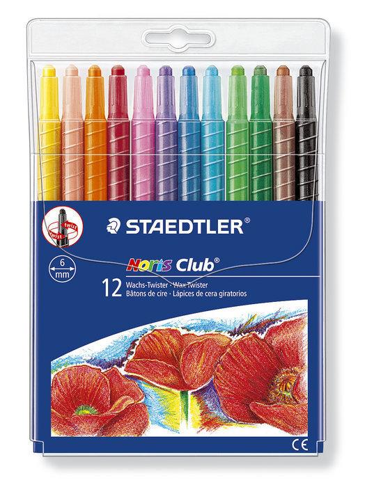 Ceras staedtler 221 nwp12 giratorias 12 colores surtidos