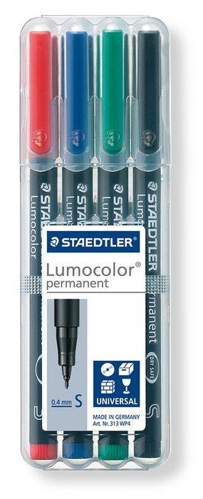 Rotulador lumocolor 313 wp4 superfino b/4 surtidos