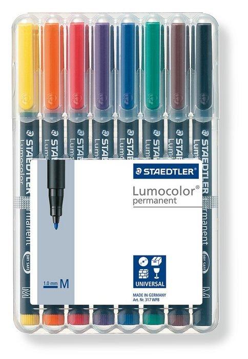 Rotulador lumocolor 317 wp8 medio b/8 surtidos