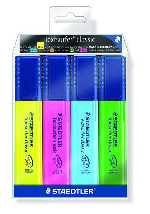 Blister marcador fluoresc 364wp4 textsurfer surtido 4