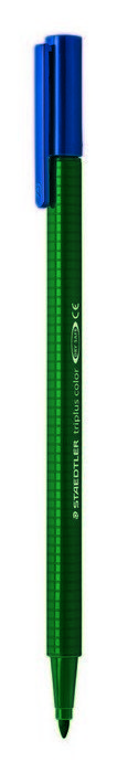 Rotulador punta de fibra triplus color 323 verde tierra
