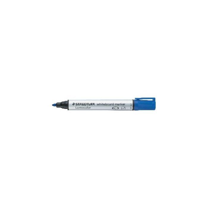 Rotulador lumocolor 351-3 azul conico pizarra blanca