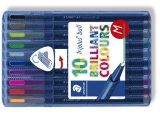 Boligrafos triplus ball 437 m 10 colores surtidos