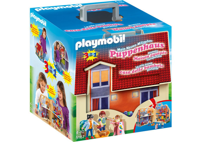 Playmobil casa muÑecas maletin 5167