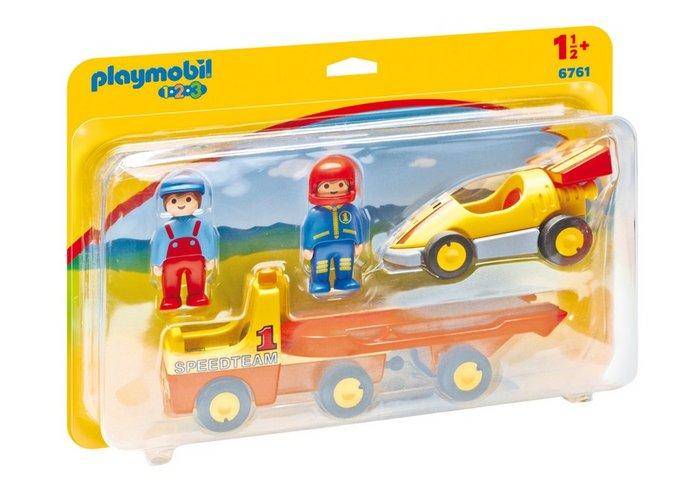 Playmobil 1.2.3 coche de carreras con camion 6761