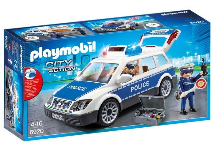 Playmobil coche de policia con luces y sonido 6920